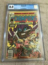 1977 Marvel CHAMPIONS #15 John Byrne BLACK WIDOW X-Men SWARM Origin 2nd App CGC