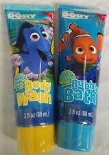 Lot of 2 Disney Pixar Finding Dory Nemo 1 Body Wash & 1 Bubble Bath Bubbly Berry
