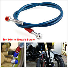 Motorcycle Scooter Electric Bikes Braided Brake Oil Hose Pipe Line Fittings 10mm