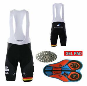 2021 Road Men Team Bicycle Cycling Polyester Gel Padded Bib Shorts