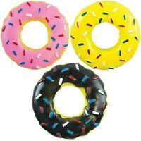 Strong Squeaky Doughnut Dog Rubber Toy 13.5cm Puppy Fun Chew Squeaker Donut Pet