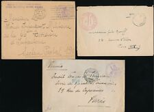 ITALY WW1 1917 FRENCH MILITARY POST...3 ITEMS