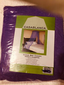 BED CANOPY SHEER NET PURPLE TWIN, FULL OR QUEEN NEW