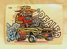 1970S SCANLENS ODDEST ODD RODS STICKER #105 DEALER MUSCLE CAR DONRUSS LICENSED!