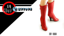 ZY TOYS COOL GIRL CG CY Red Boots w/ Joint 1/6