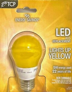 TCP 40-Watt A15 Yellow Long-Life LED Bug Light Bulb, Non-Dimmable - New