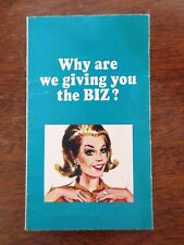 1960s BIZ Laundry Soap Product Proctor Gamble Ad Information Brochure Foldout