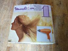 ancien seche cheveux moulinex orange année 70 vintage