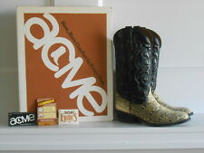Vintage ACME Python Exotics Cowboy Boots Rodeo MADE IN USA Sz. 9D