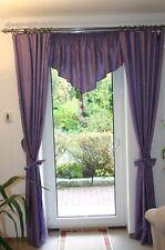 Vorhänge 6 Dekoschals Ringaufhängung violett mit edlem Muster 226x117 cm
