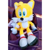 "SONIC THE HEDGEHOG Plush Yellow Tails 11"" Soft Stuffed Toy Kids XMAS Gift"