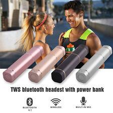 TWS K2 Twins Wireless Bluetooth Stereo Headset Lipstick Earphone Earbuds W/ MIC