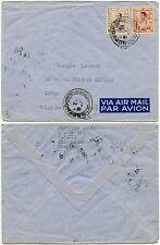 CAMBODIA to BELGIUM 1957 AIRMAIL