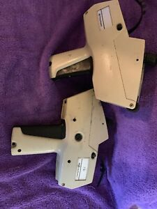 Lot of 2 Pitney Bowes Monarch Marking Label 1175 Pricing Label Gun