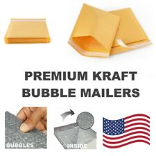 #DVD 7.25x9.75 Kraft Bubble Mailers Padded Envelope Protective Packaging Pouch