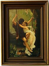 Antike Ölgemälde der Frühling Kopie von Pierre Auguste Cut 1925 signiert