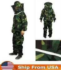 US Beekeeping Suit Protective Jacket Pants Veil Bee Protecting Dress Camouflage