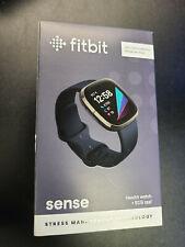 New listing Brand New Sealed Fitbit Sense Fitness Health & Stress Tracker Smartwatch Black