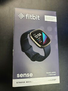 Brand New Sealed Fitbit Sense Fitness Health & Stress Tracker Smartwatch Black