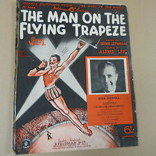 songsheet THE MAN ON THE FLYING TRAPEZE Dick Powell 1934