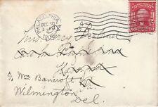 1905 USA envelope sent to Wilmington Del from Philadelphia