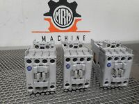 Allen Bradley 700-CF220Z* Ser A (3) Contactors 25A 600V 24VDC Coil Used Warranty