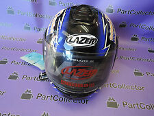 NEW LAZER CROCO LZ6 BLUE BLACK WHITE MOTORCYCLE HELMET SIZE XL