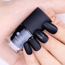6ml Nail Art Black Matte Polish Frosted Surface Manicure Nail Polish DIY Tools