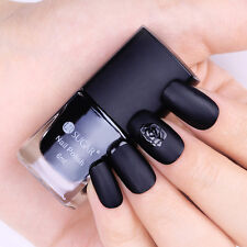 6ml Black Matte Nail Polish Frosted Surface Nail Art Manicure Varnish Polish