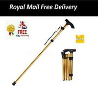Heavy Duty Folding Mobility Walking Stick Cane Height Adjustable Collapsible