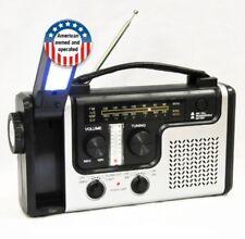 Weather Radio Hurricane Storm Emergency Solar Hand Crank AM/FM/NOAA Flashlight