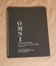 Omni Black Class Record Book for 5 to 10 week marking periods- 40 weeks