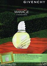 Publicité advertising 2007 Parfum Amarige de Givenchy