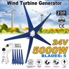 5 Blades 5000w Wind Turbine Generator Kits Dc 24v W Power Charge Controller New
