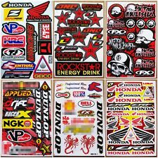 Red Scorpion Dirt Bike MX1 ATV Motocross Racing Sport Car Bike Stickers 6 sheets