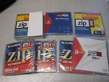 8 pcs of Iomega Zip Disks, 750MB, 250MB and 100MB for PC or MAC