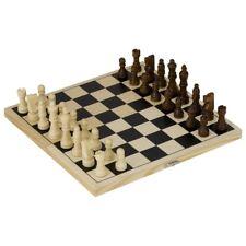 Schachspiel in Holzklappkassette 26 x 25,5 cm