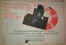 "CHRIS REA Benny Santini 1978 UK  Press ADVERT 12x8"""