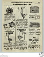 1919 PAPER AD Ford Cars Stromberg Rayfield Schebler Carburetor Timers Pedals