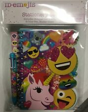 ID-Emojis Stationary Set, Notebook, 6-ink Pen & Stickers *NEW*FREE SHIPPING*