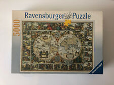 5000 Pieces Jigsaw Puzzle Ravensburger Historical Map Of The World Rare Puzzle