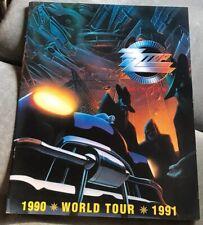 Zz Top World Tour Program 1990-1991