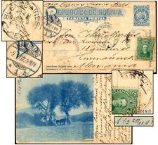 BOLIVIA 2¢ PSC PHOTO HORSE & WAGON 1901 COCHABAMBA
