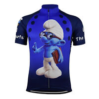 THE SMURFS Cycling Jersey Shirt Retro Bike Ropa Ciclismo MTB Maillot