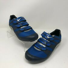 Nike 8.5 Cycling Shoe Indoor Athletic Blue Silver Hook Loop Mesh Womens