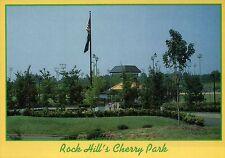 Rock Hill's Cherry Park, South Carolina, Garden, Picnics, Recreation -- Postcard