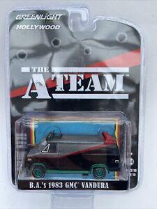 CHASE The A Team BA's GMC Vandura model van GREEN wheels 1:64 44790B Mr.T Face
