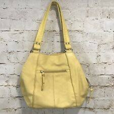 Tignanello Yellow Leather Hobo Bag Purse Shoulder Strap Lined