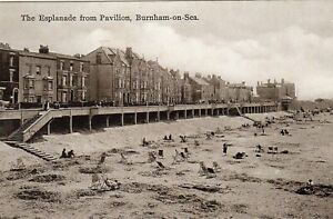 Burnham on Sea, The Esplanade From Pavilion  Early 1900's, Unposted Postcard,