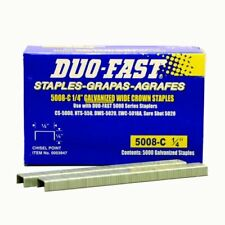 Duo Fast 5008C 20 Gauge Galvanized Staple 1/2-inch Crown X 1/4-inch Length 5000